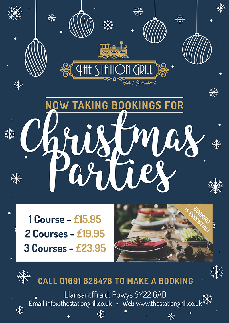 Christmas Restaurant Poster.The Station Grill Christmas Party Poster 2017 The Station